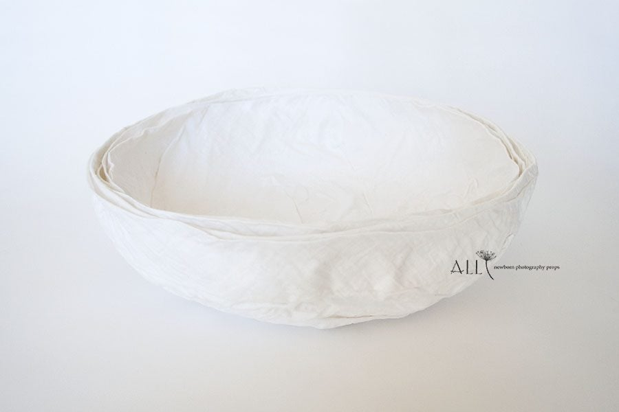 Basket for Newborn Photography - Mandy Vessel white boy props for sale