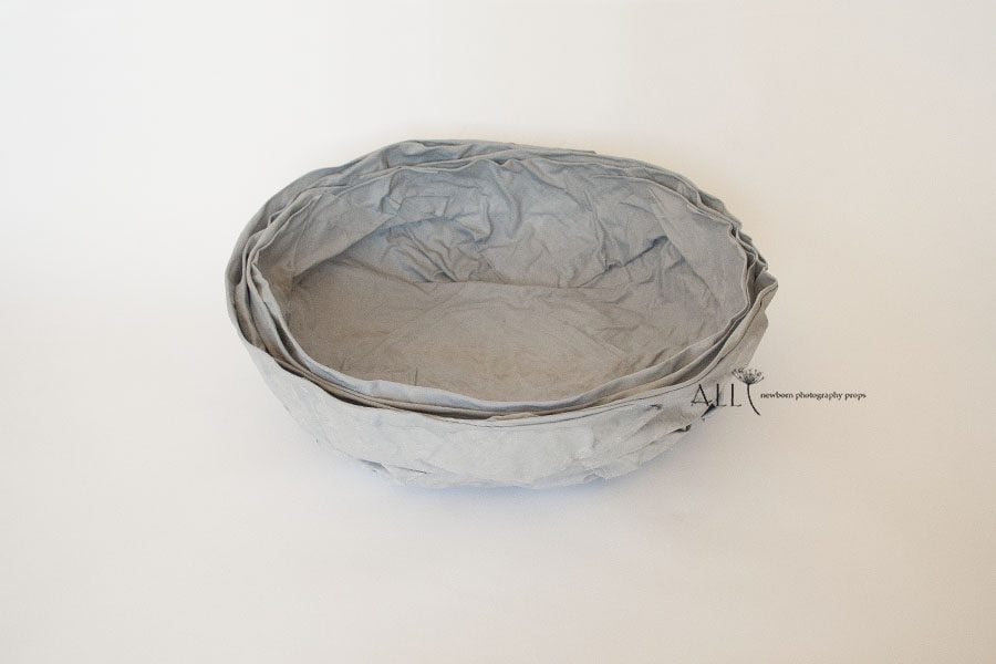 Basket for Newborn Photography - Mandy Vessel grey newbornprops eu