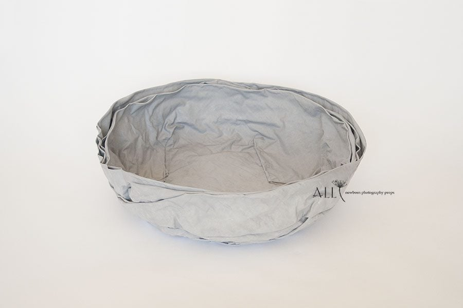 Basket for Newborn Photography - Mandy Vessel grey all newborn props