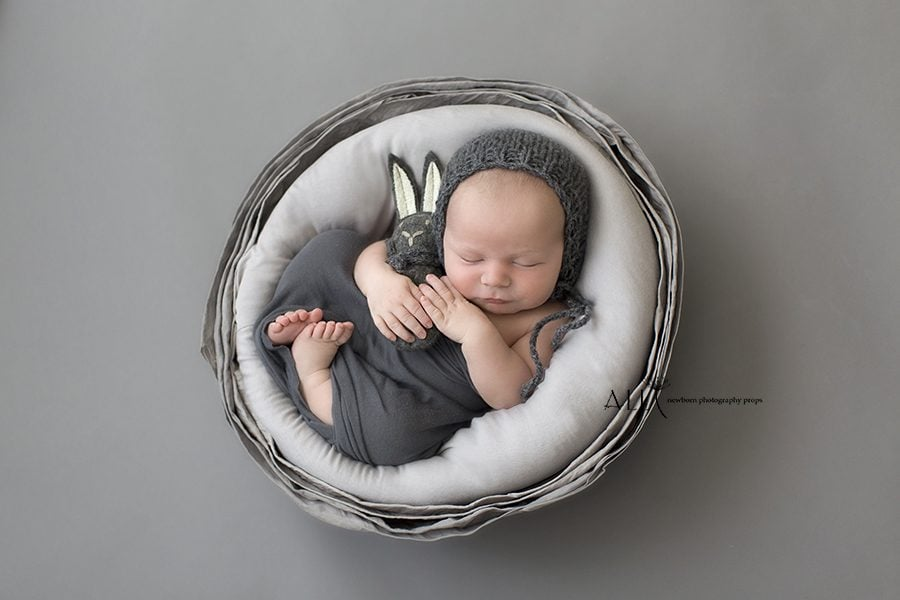 Basket for Newborn Photography Boy - Mandy Vessel unique newbornprops