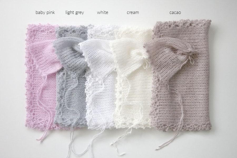 newborn-baby-wraps-bonnet-hat-photography-prop-brown-cream-white-grey-pink