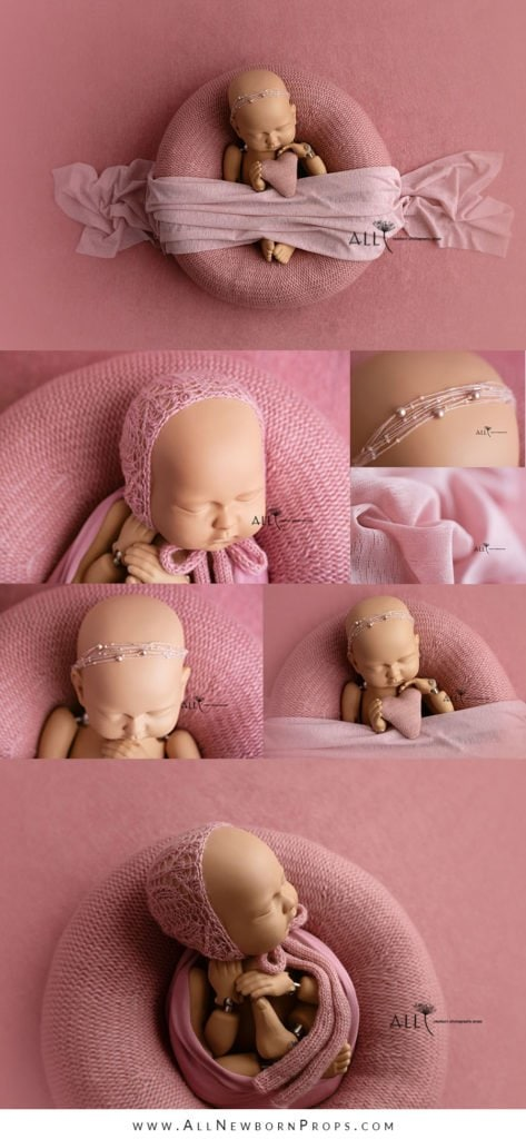 Shades of Pink for a Newborn Girl Photo Session uk