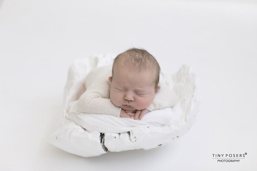 Newborn Photo Boy Outfit - Knitted Romper white cream photoshoot props for sale