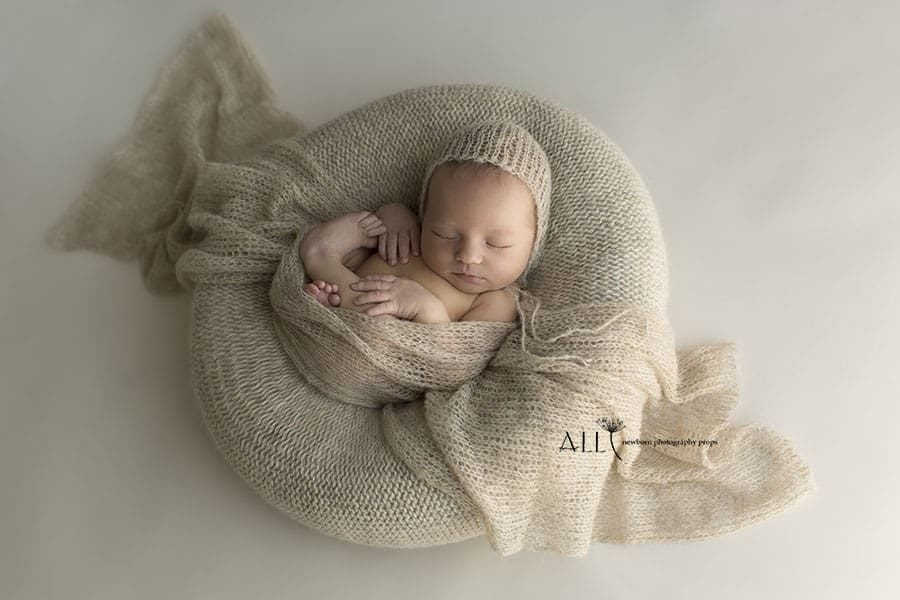 Newborn Props Coordinated Set – Miraji/Taja (Tan)
