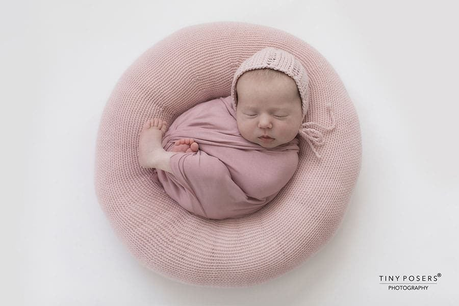 posing ring newborn girl pink photoshoot props polen