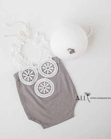 Baby Girl Newborn Picture Outfits – Romper Benedicta UK
