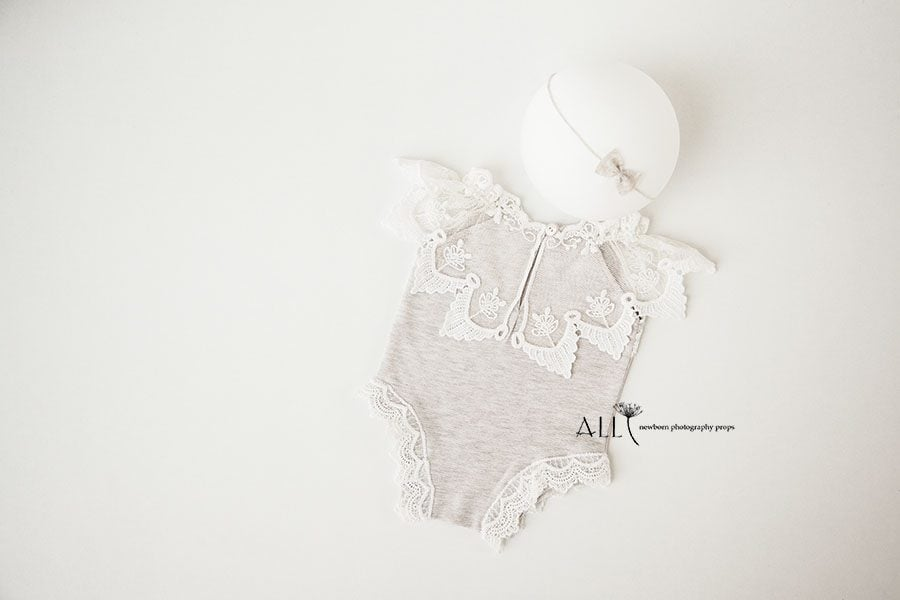 Newborn Baby Girl Photo Outfits – Romper Dalice lace photography props for sale uk
