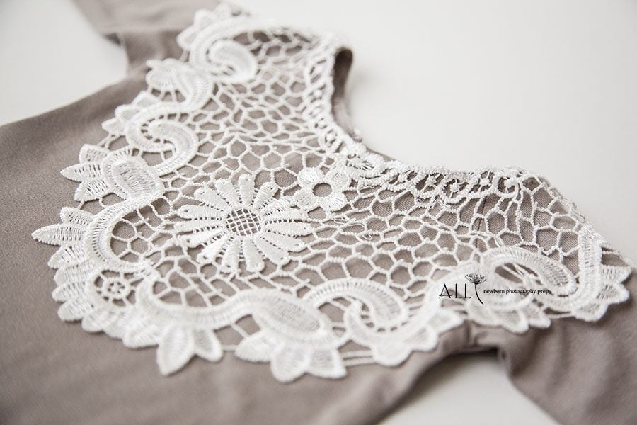 Newborn Girl Photography Clothing – Romper Lace Bib europe