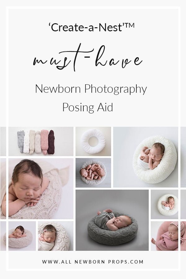 Newborn poser 'Create-a-Nest' - the best posing pillow for photography session Europe