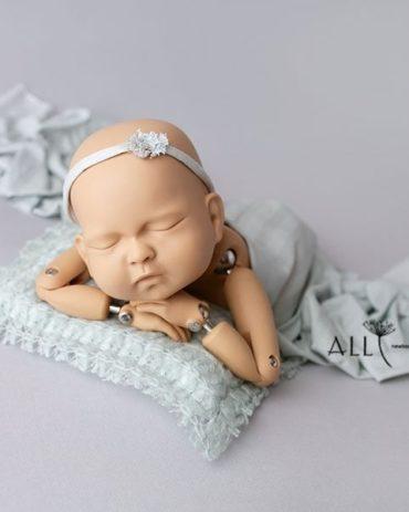 Infant Photography Props Set - Simple Headband Tieback for Photoshoot EU