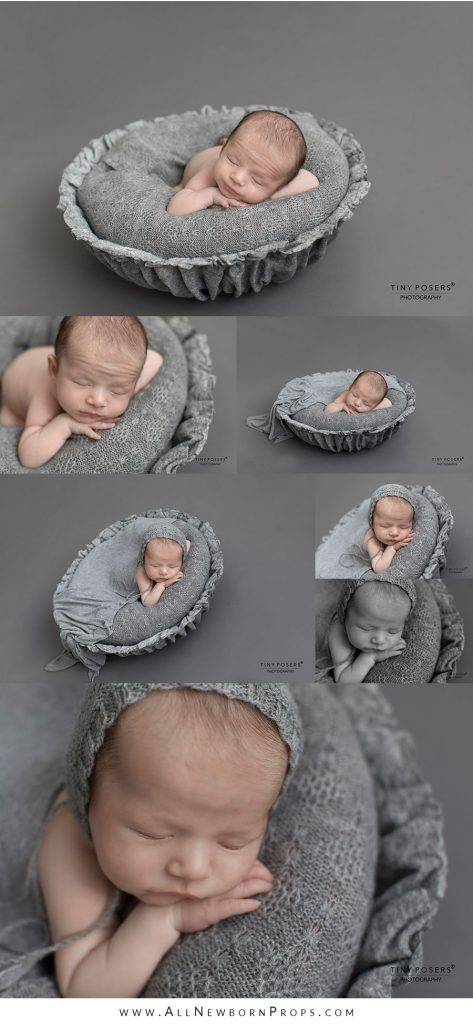 Pose for Newborn Pictures: Upright in Prop