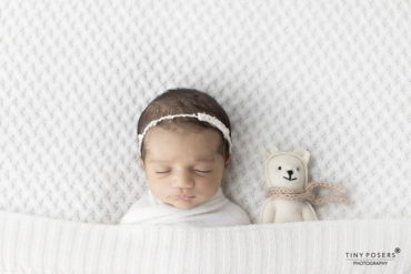 Dainty Newborn Baby Headband Tieback - white girl foto props polen
