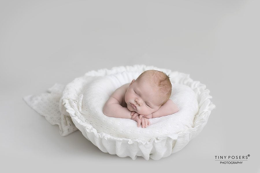 Newborn Photography Basket Prop - Joseph Vessel Europe prop shop white