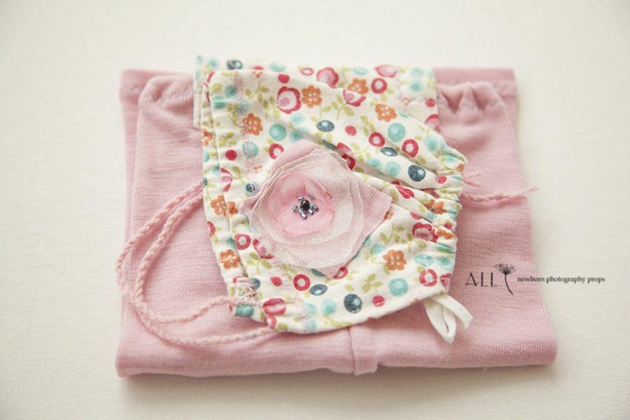 romper-overall-bonnet-hat-set-wool-all-newborn-props-photo-prop-photography-pink-cream-flowers