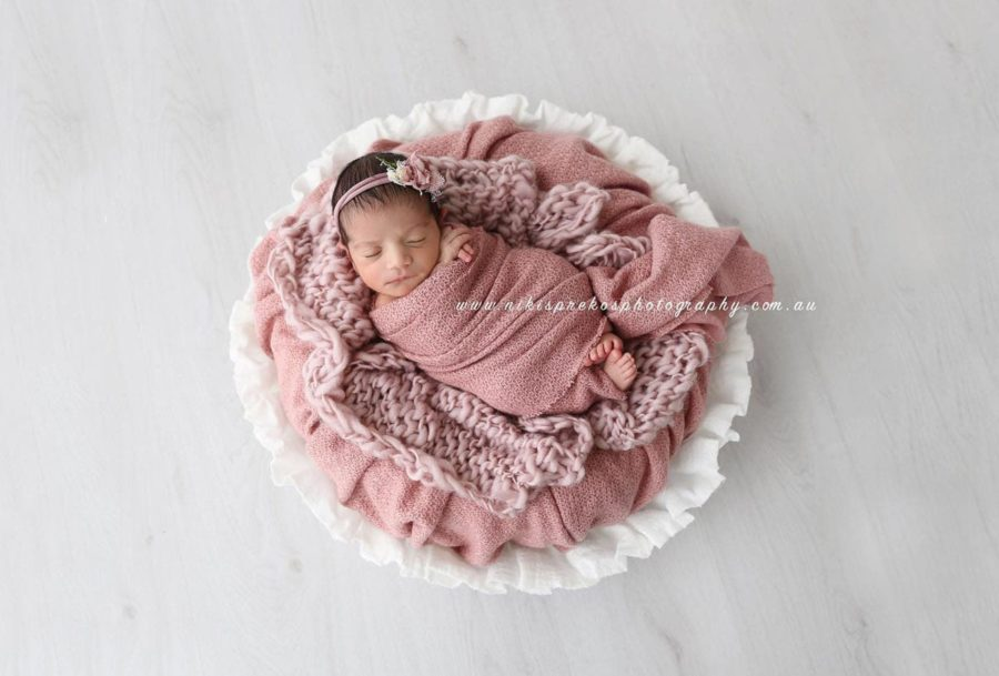 Newborn Photography Basket Prop Girl Photoshoot White - Joseph Vessel EU