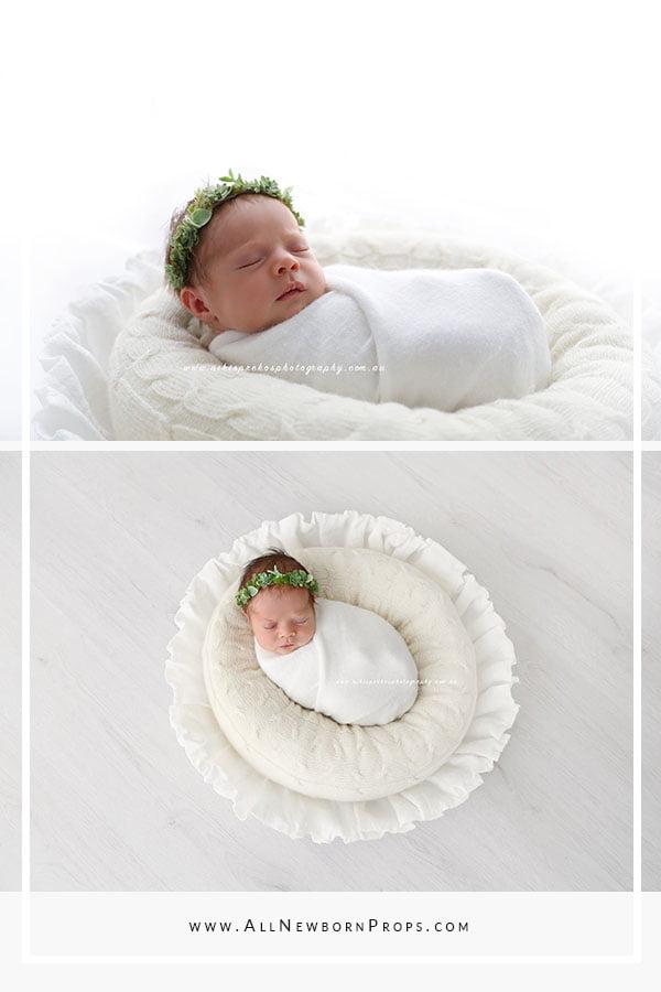 Newborn photoshoot ideas tips posing bowl