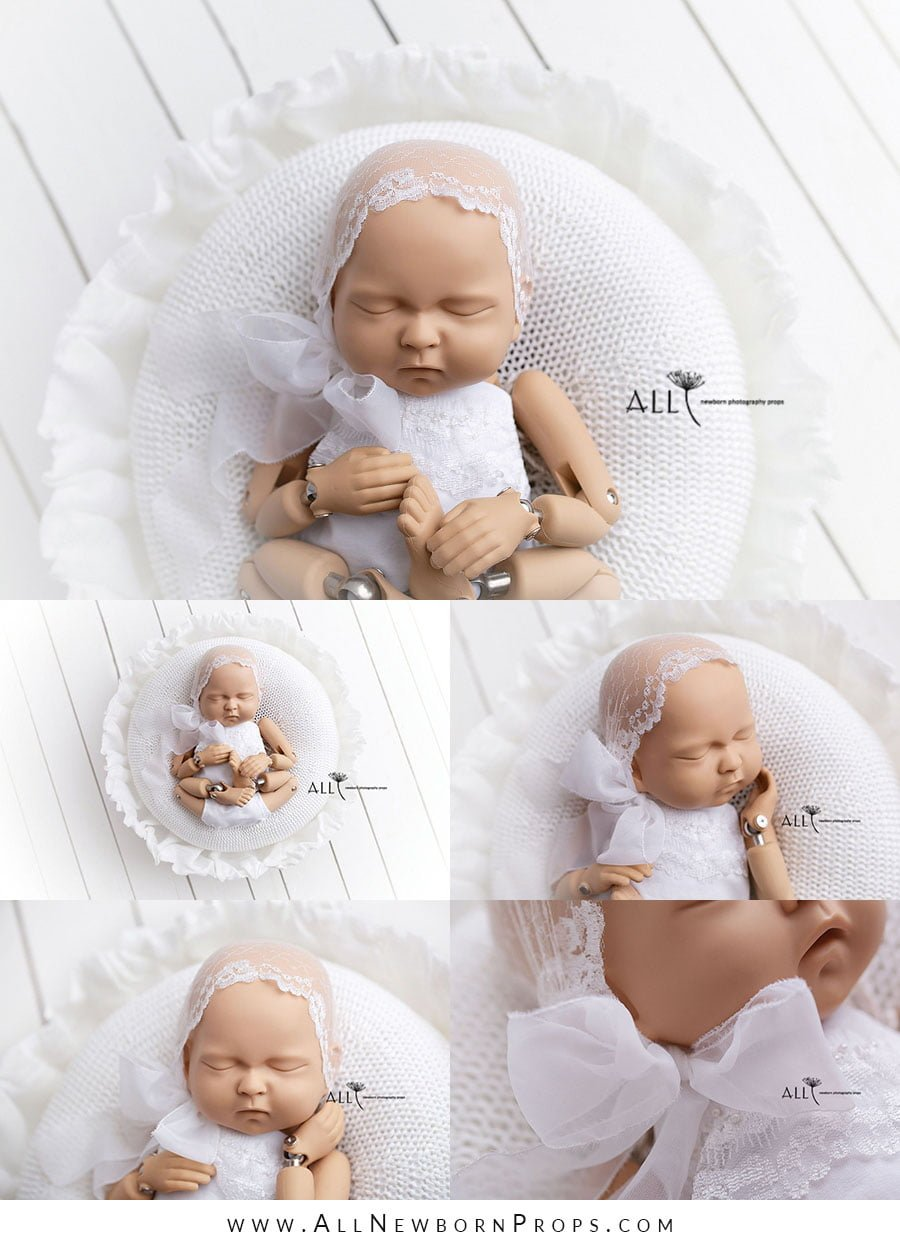 newborn photography wooden bowl white girl prop shop uk