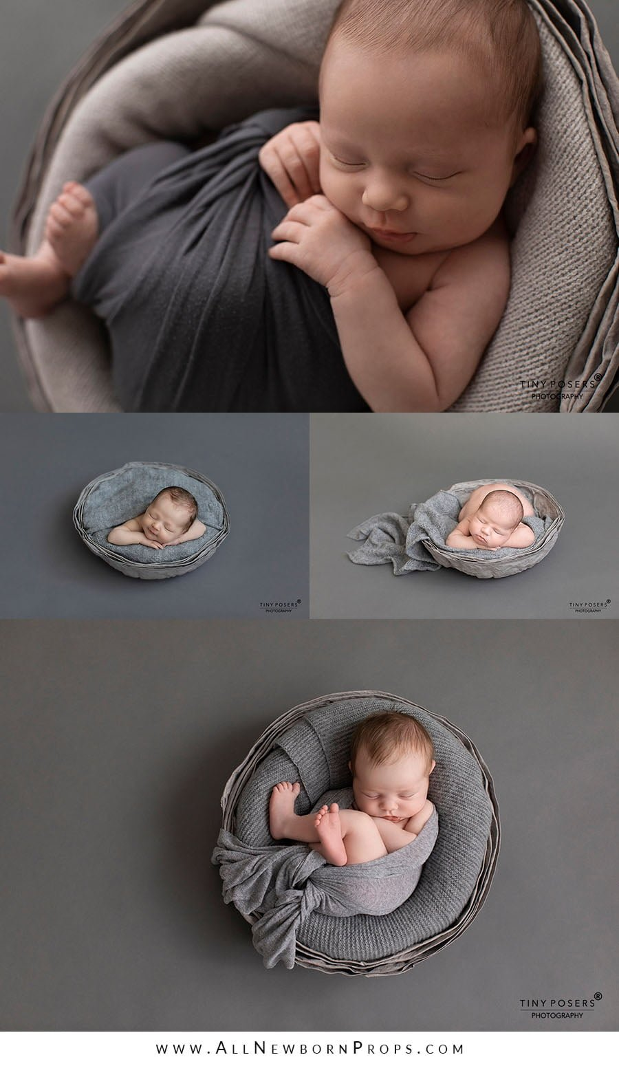 newborn baby basket for boy photography studio grey prop shop eu