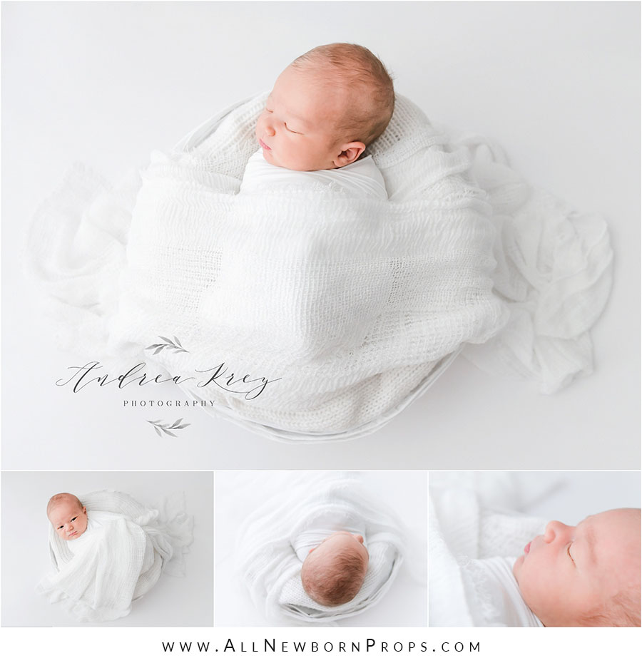 Newborn photoshoot props white bowl wrap eu