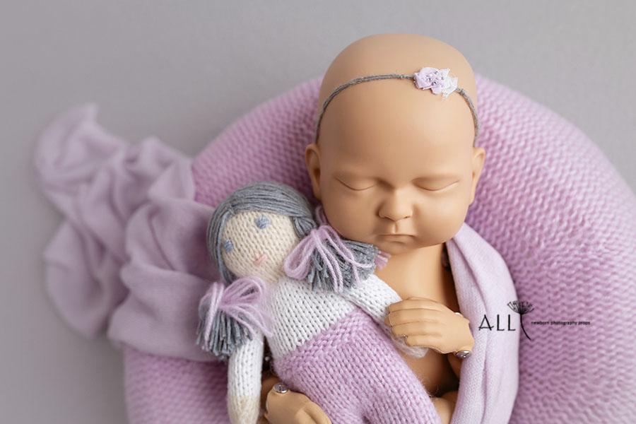 Baby Girl Posing Props Set - New Born Baby Headband - UK