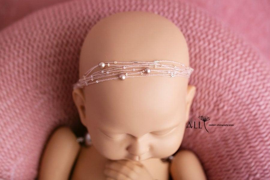 newborn photo props girl headband poser