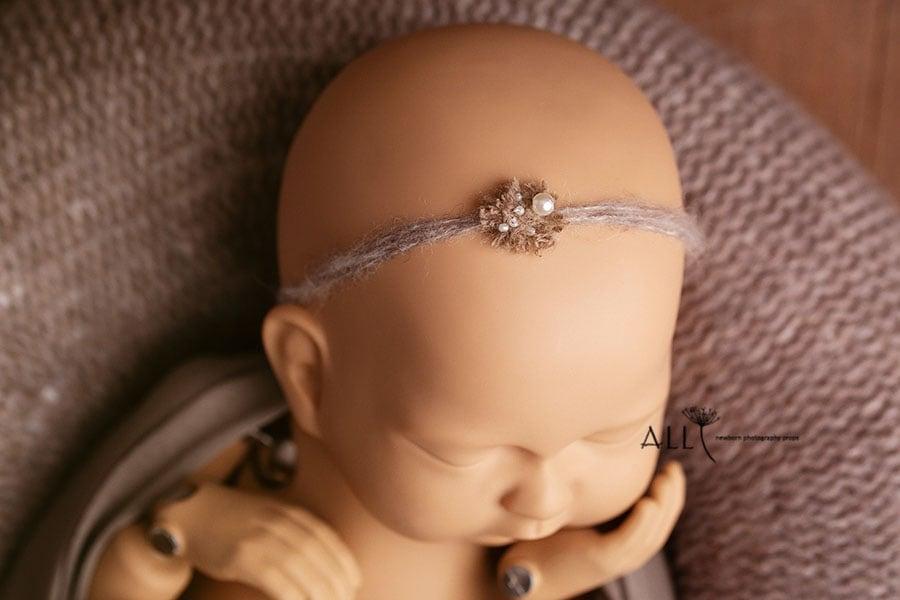 newborn photo props girl headband poser wrap