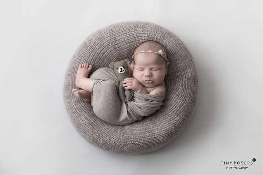 Newborn Photography Poser - 'Create-a-Nest'™ Donna New Born Props Mulch
