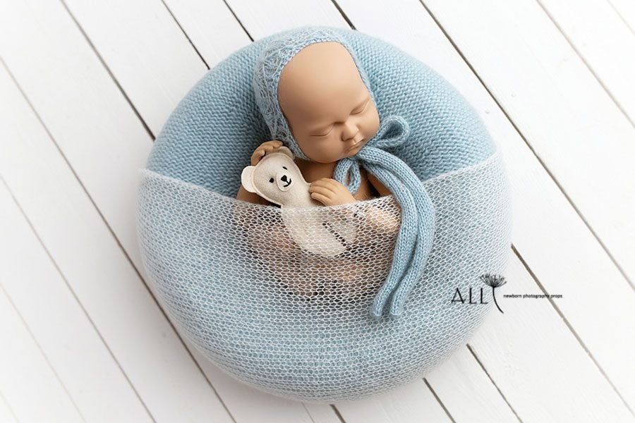 Baby Boy Photography Prop Bundle – Donna/Taja (Baby Blue) polen