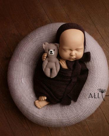 Props for Newborn Photography – Donna/Darrell Set (Oatmeal) all newborn props