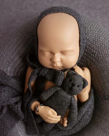 Newborn Photo Props Boy Set – Donna/Darrell (Dark Grey) EU