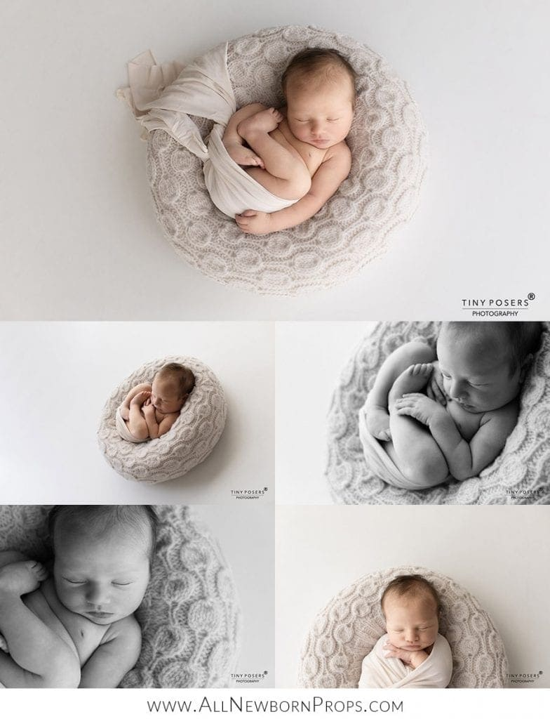 newborn poser creative photo ideas on how to take different images with just one pose