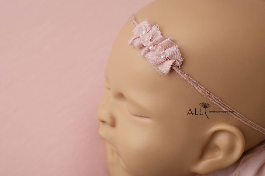 Pink Baby Headband Tieback - Valentina all newborn props eu