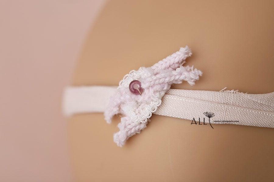 Thin Pink Newborn Headband - Isadora photography props europe