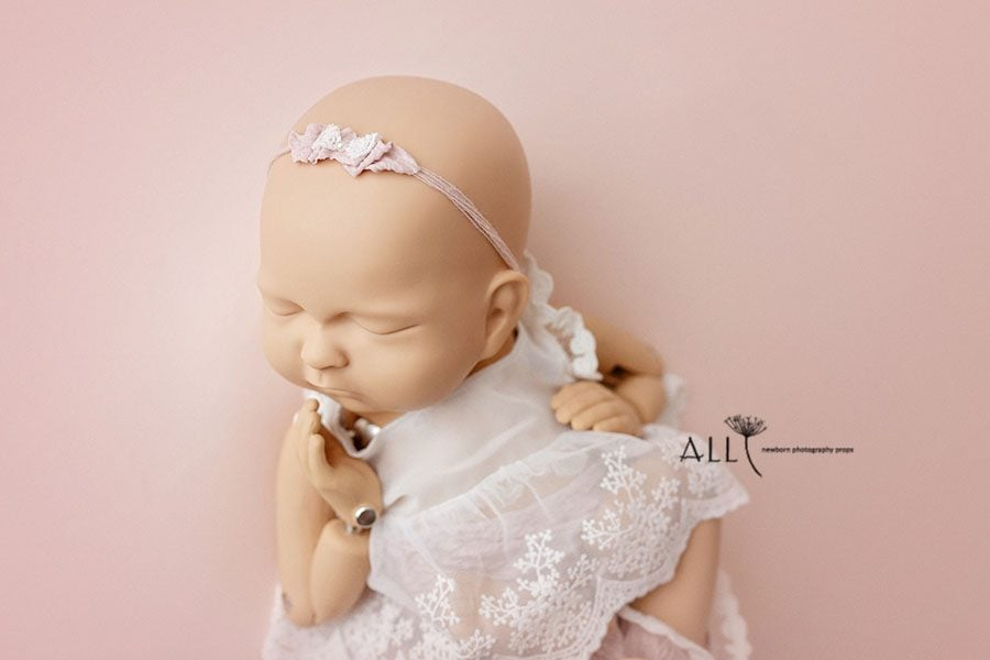 Tieback Headband for Baby Girls Photography - Ulla new born props uk