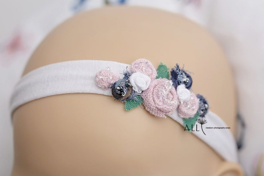 Flower Newborn Baby Headband - Ursula newborn prop shop uk