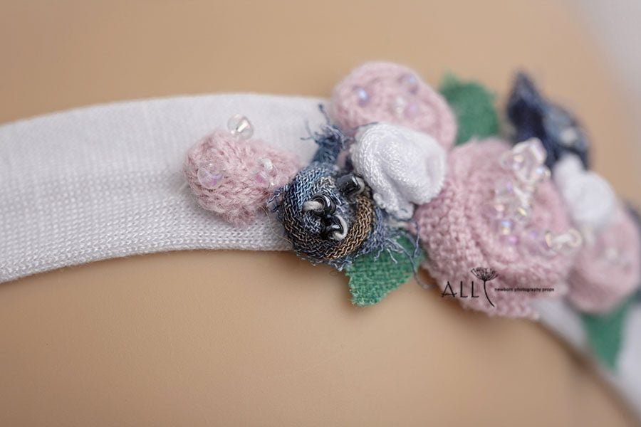 Flower Newborn Baby Headband - Ursula newbornprops eu