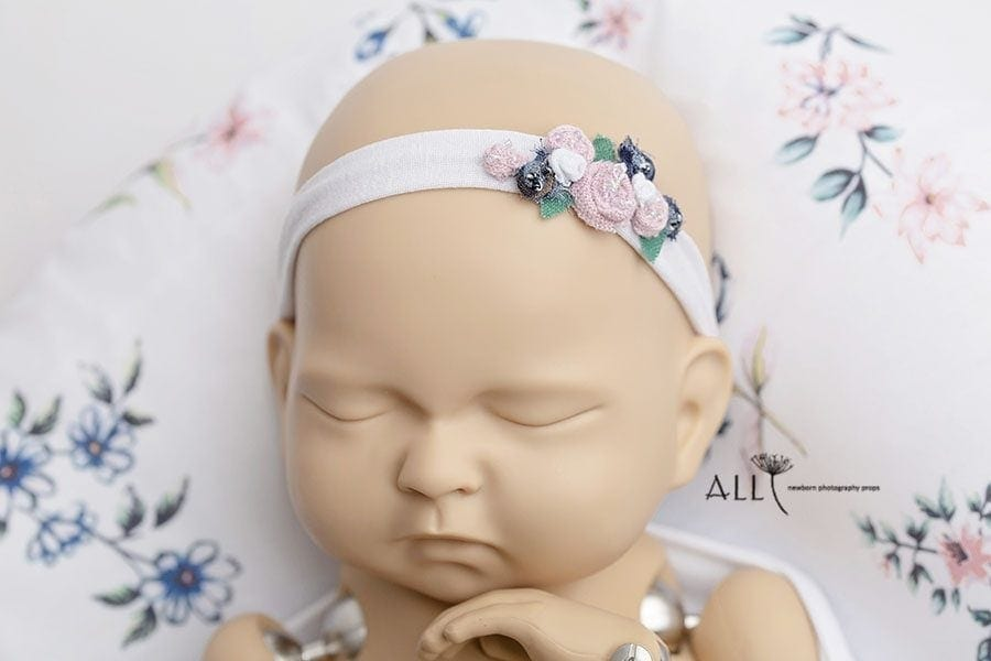 Flower Newborn Baby Headband - Ursula photoshoot props for sale