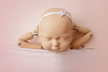 Thin Pink Newborn Headband - Isadora baby photography props for sale eu