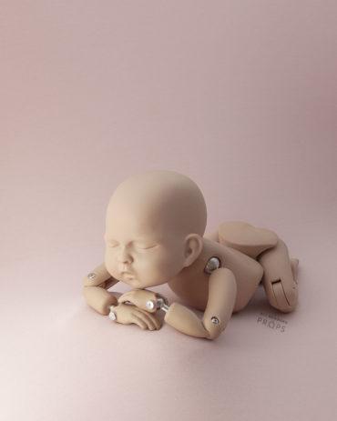 posing-fabrics-newborn-photography-girl-Bean-bag-decke-stretch-knitted-jersey-dusty-pink-europe
