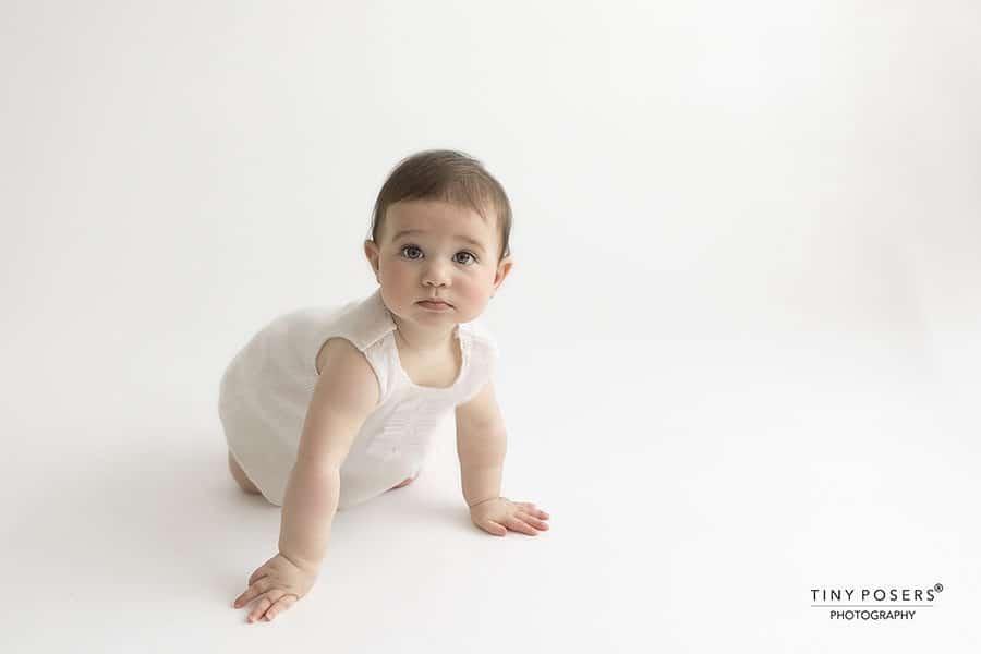 Toddler photoshoot dress white simple minimal europe
