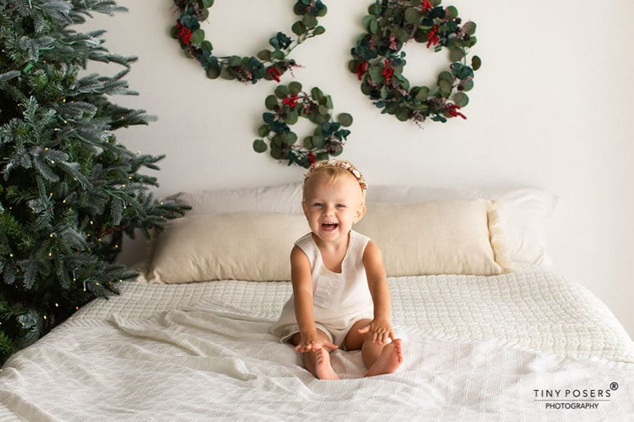 toddler christmas photo outfits girl dress white