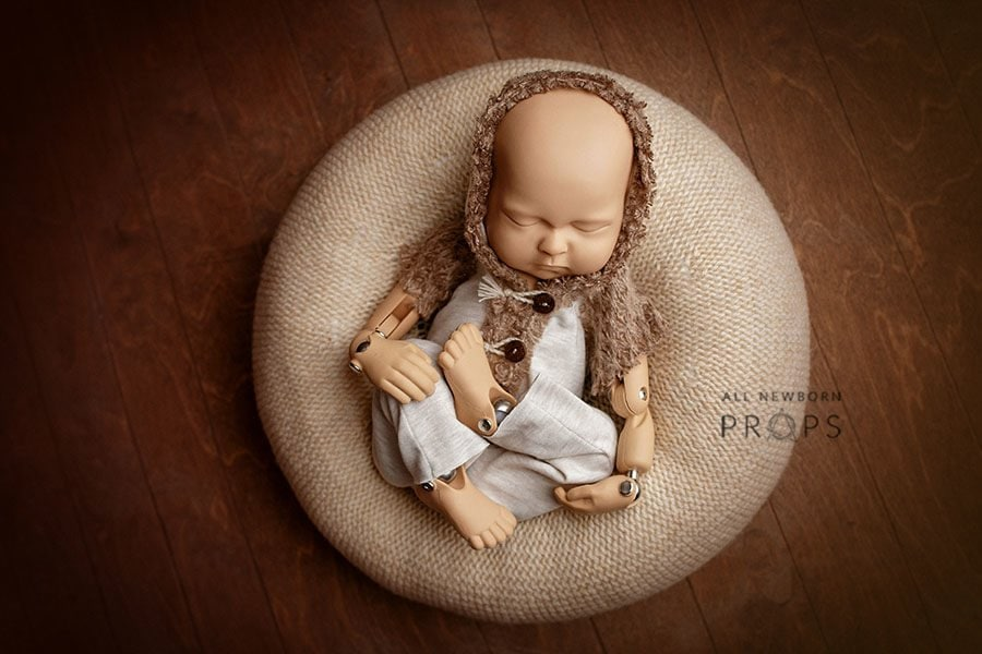 Newborn Photoshoot Outfit - Hooded Romper Owen Boy new born props eu