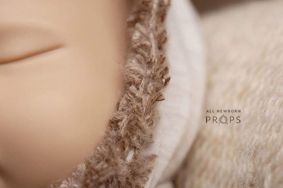 Newborn Boy Photoshoot Outfit - Hooded Romper all newborn props uk