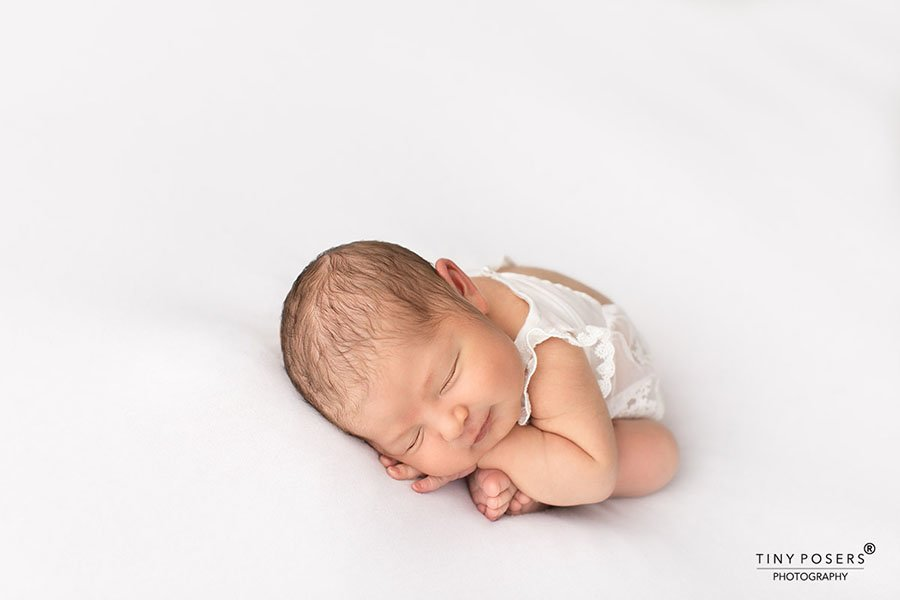 Newborn girl picture ideas white