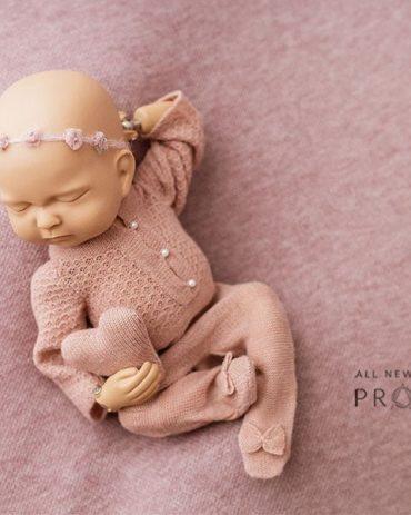 Props for Baby Photos -Travon/Marissa Set: Dusty Pink Edition Newborn Prop Shop
