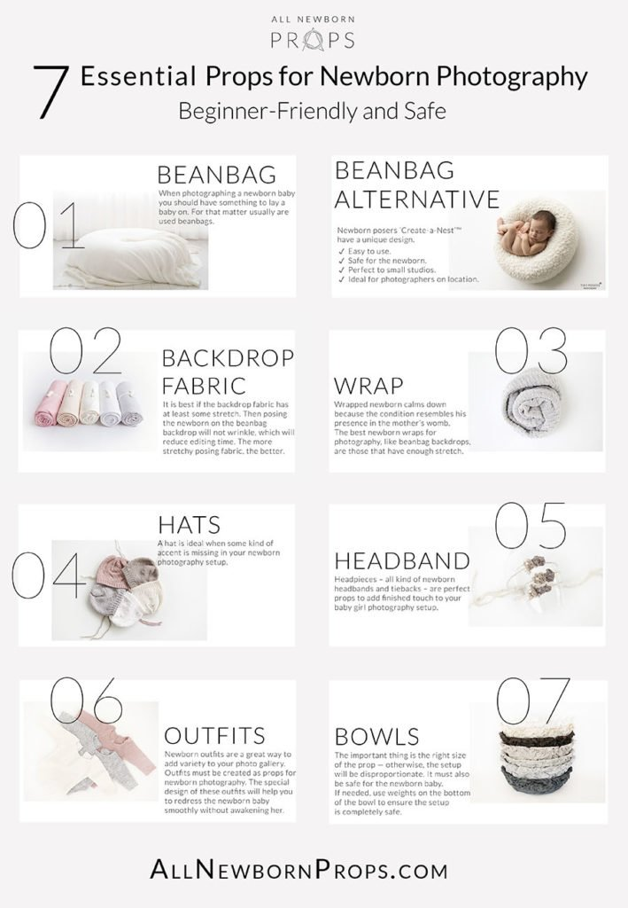 newborn photography props check list must-have essential beginner-friendly safe