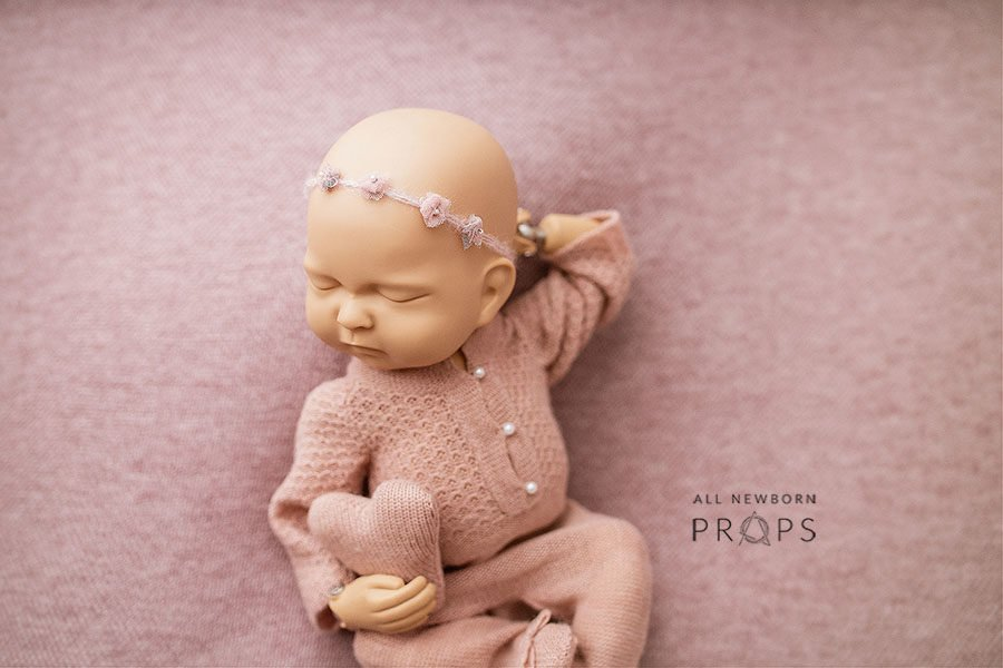 Photo Props for Newborn Girl - Lace Headband Tali Europe