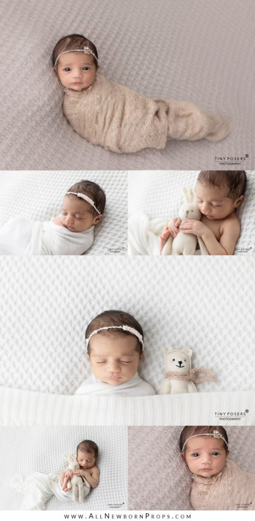 Props for Newborn Photography: fabric backdrop for newborn posing beanbag