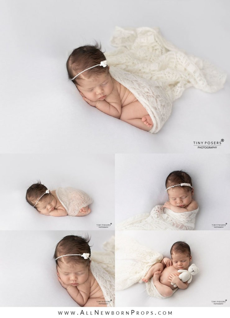 Tie back headbands for newborn girl pictures
