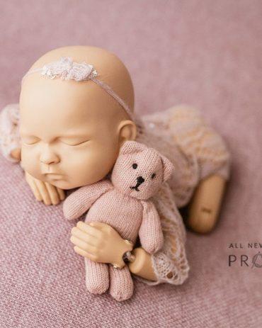 Baby Photoshoot Props - Travon/Justine Bundle: Dusty Pink Edition eu uk